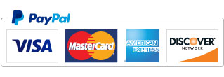 PayPal Accepts VISA, Mastercard, American Express, and Discover.